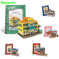 Cubicfun 3D Puzzle For Kids House Paper Model World Architecture Educational Toys For Children Over 6