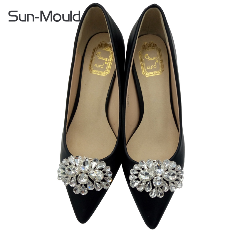 10pairs Rainestone removable clip fashion gem diamond shoes flower shoe buckle crystal charms accessories wedding shoes daily bow shoes clips decorative shop shoe accessories shoe clip crystal rhinestones charm material n2287