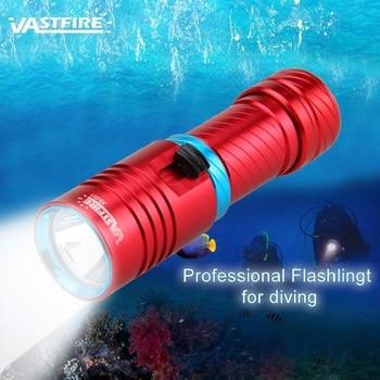 цена на 1000 lumens Diving Flashlight XM-L2 LED Aluminum Diving Torch Light 100m Scuba Diver LED Light Torch By 3.7V 18650 or 26650