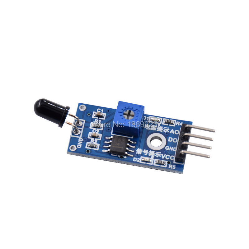 10pcs/lot IR Flame Sensor Module Detector Smartsense For Temperature Detecting Suitable For Arduino Wholesale