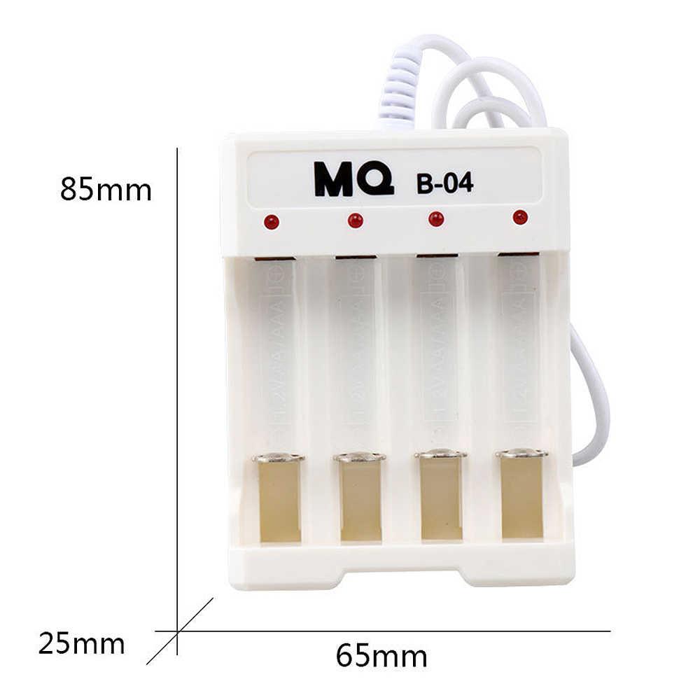 4 gniazda baterii ładowarka z AA AAA niklu kadmu światło led do ładowania