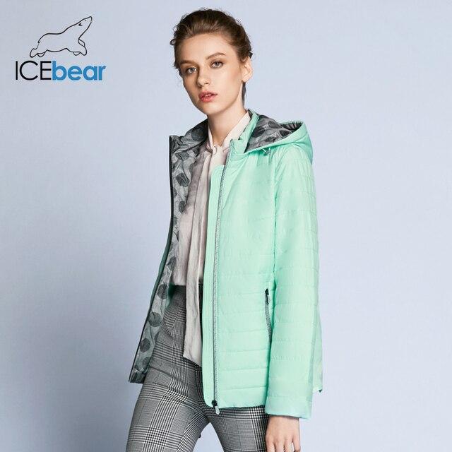 ICEbear 2019 חדש אביב נשים מעיל כותנה אופנה גבירותיי מעיל באיכות גבוהה אביב מעיל להסרה כובע מותג מעיל GWC18038D