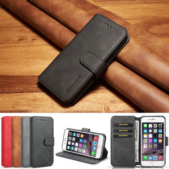 Cover Case For iPhone 6 6S Plus Luxury Flip Magnetic Plain Wallet Leather Bag Etui For Apple i Phone 6 S 6plus 6splus Case Coque iphone 6