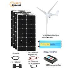 600 Вт ветровая турбина Вт 400 Вт Солнечная ветровая гибридная Солнечная система DIY комплект солнечная панель домашний до