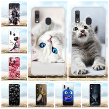 For Samsung Galaxy A20 A30 Cover Slim Soft Silicone TPU Case Cat Patterned Bumper