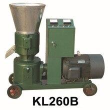 15 кВт KL260B гранул машина корма для животных деревянный станок для производства пеллет пеллетный пресс с звезда-Дельта пусковой