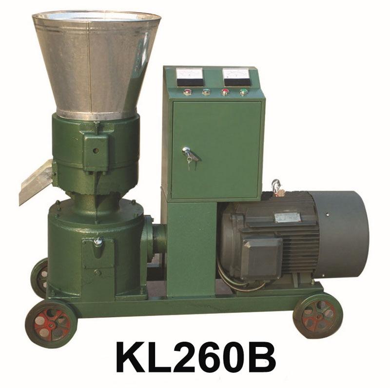 15KW KL260B Pellet Machine Animal Feed Wood Pellet Mill Machine Pellet Press With Star-delta Starting