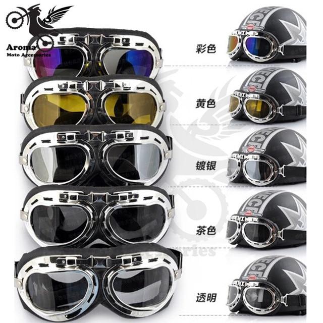 aad4d5047ada6 Prata retro multi amarelo moto lente óculos de sol raf vintage piloto moto  óculos de proteção