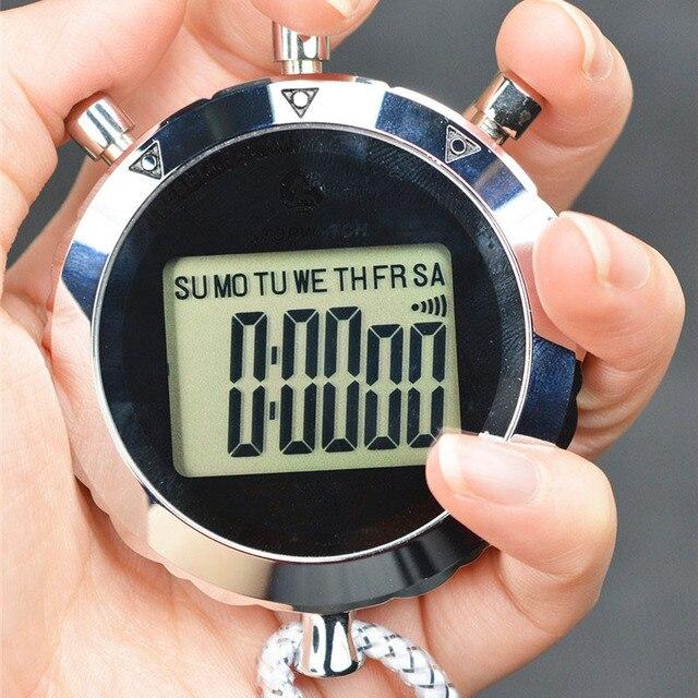 antimagnetic chronograph metal digital timer stopwatch sports
