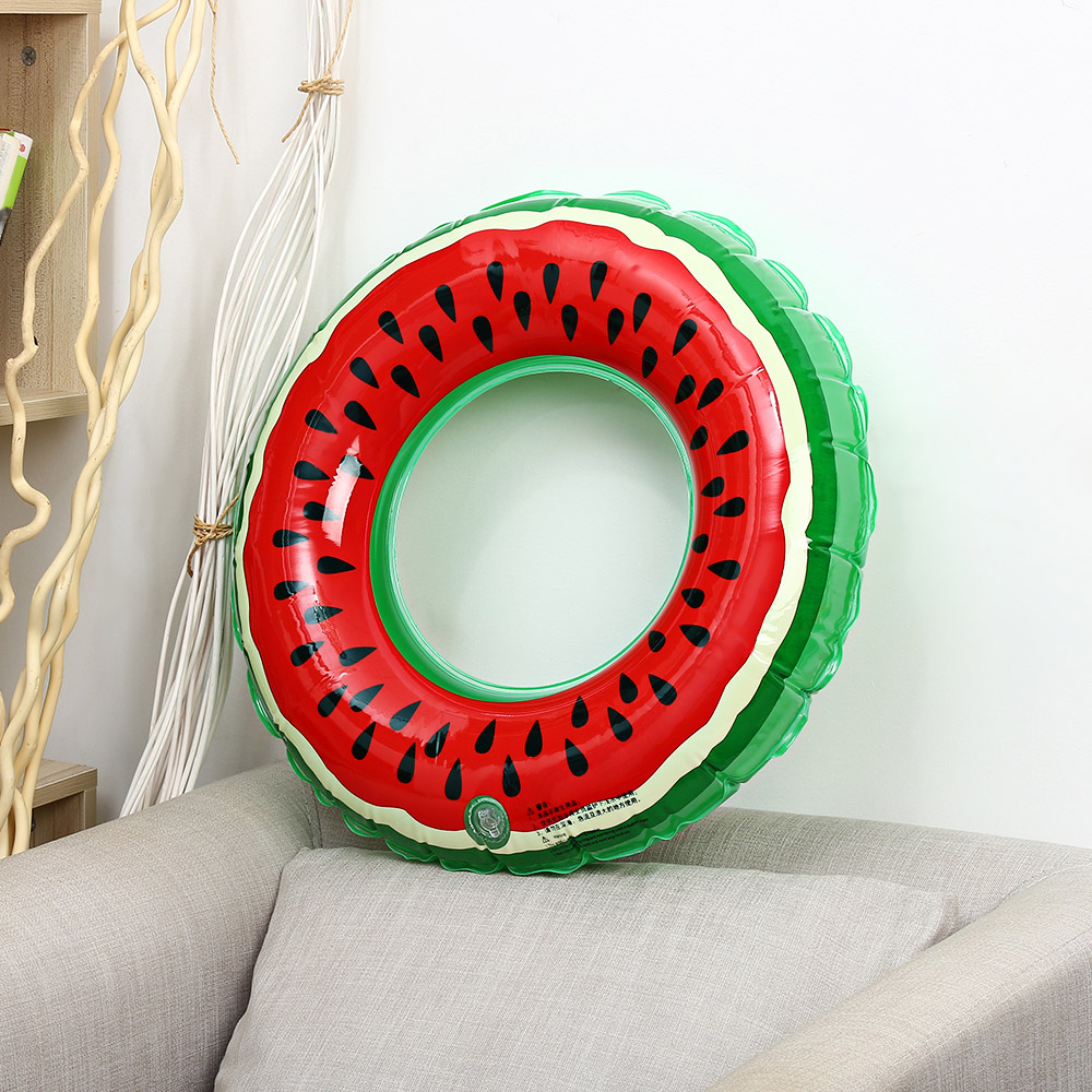 Children Inflatable Swimming Ring Watermelon Pattern 60cm/70cm/80cm/90cm Diameter Portable Pool Float Gifts For Kids