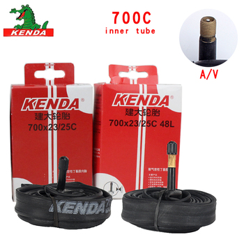 Kenda Bicycle Inner Tube Cycling Mountain Bike Butyl Rubber Bicycle Tube Tire 700 *18 23 25 28 32 35 43 45C American valve image