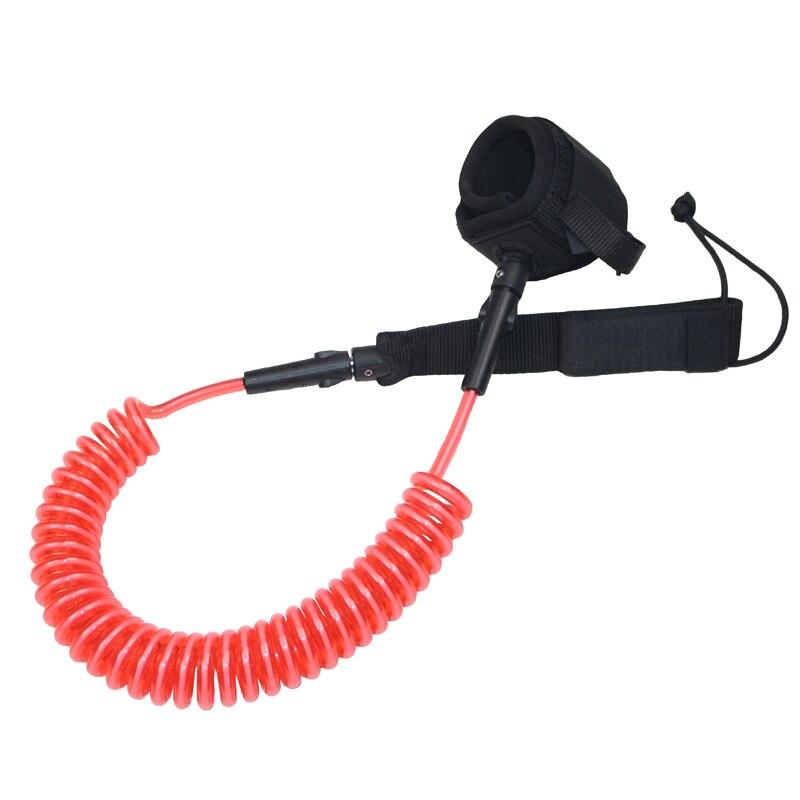 Rouge corde enroulée jambe laisse pied accessoire pour sup planche de surf planche de surf stand up paddle board corde surf accessoire usure a04002