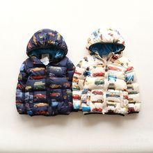 Новая зима внешней торговли автомобиль толстые дети куртка Европа стиль моды бесплатная доставка