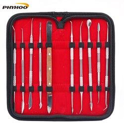 10 قطعة الأسنان معدات مختبر الشمع ماكينة حفر على الخشب (ماكينة أويما) مجموعة نحت الطين أداة شفرة الجراحية طبيب النحت سكين الآلات أداة كيت