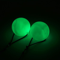 New Hot Selling 1 Pair Professional Belly Dance Balls LED RGB POI Thrown Balls Belly Dancing