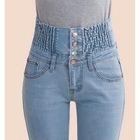 2017 Denim Pants Fashion Women Elastic High Waist Skinny Stretch Jean Female Spring Jeans Feet Pantalones
