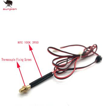 Głowica drukarki 3D termistor M4 M3 śruba termopara 100K NTC100 3950 akcesoria do drukarek 3D śruba czujnik temperatury tanie i dobre opinie SUNPION Thermistor Thermocouple Fixing Screws