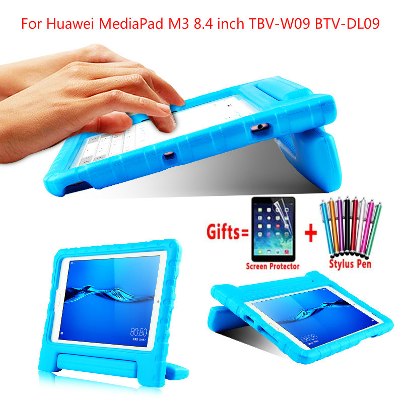 Children Tablet Case For Huawei Mediapad M3 8.4 Inch PC Hand-Held Shockproof EVA Silicon Case For TBV-W09 BTV-DL09 8.4
