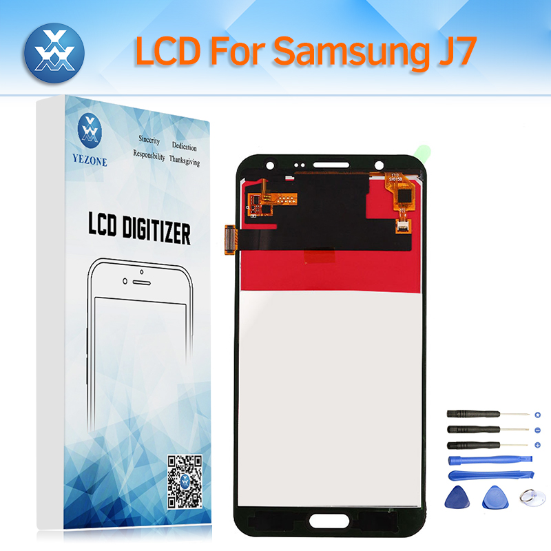 Régler la Luminosité LCD Écran pour Samsung Galaxy J7 J700 2015 SM-J700M/DS J700F J700A LCD Affichage Tactile Digitizer Assemblée + outil
