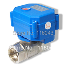 """12VDC control Water motorized Valve SS304 3/4""""  2/3/5 wires for water treatment,heating"""