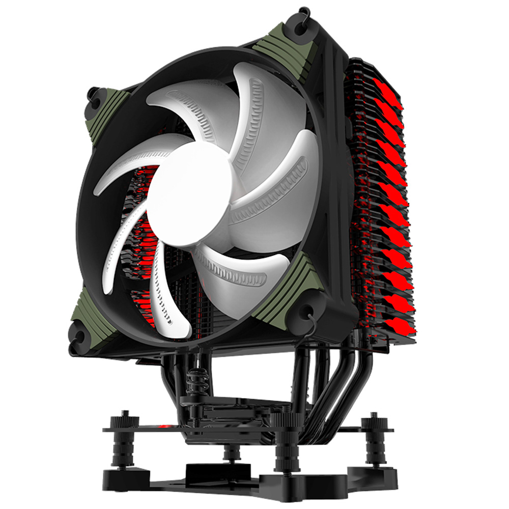 Aigo K4 RGB 4 Heatpipes Silent CPU Cooler Radiator With 120mm LED PWM Fan For INTEL and AMD Full Platforms AM4 Support computer cooler radiator with heatsink heatpipe cooling fan for hd6970 hd6950 grahics card vga cooler