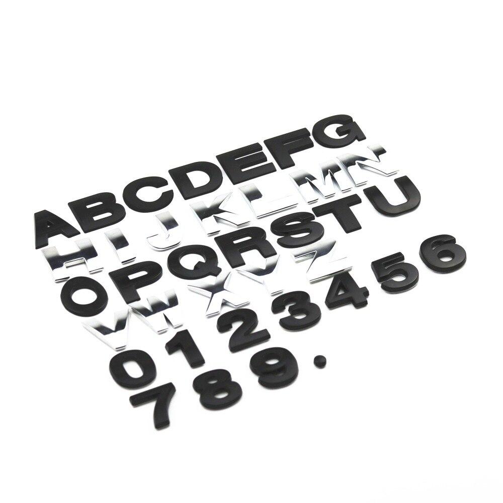 25 мм 3D Металл DIY буквы алфавита герб Chrome автомобиля Стикеры s Цифровой Знак автомобилей Логотип Автомобильные аксессуары мотоцикл Стикеры