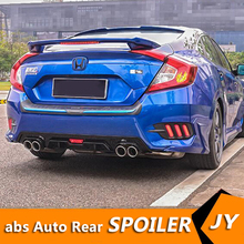 For Honda Civic Abs Rear Bumper Diffuser Bumpers Protector For 2016 2018 Civic Body Kit