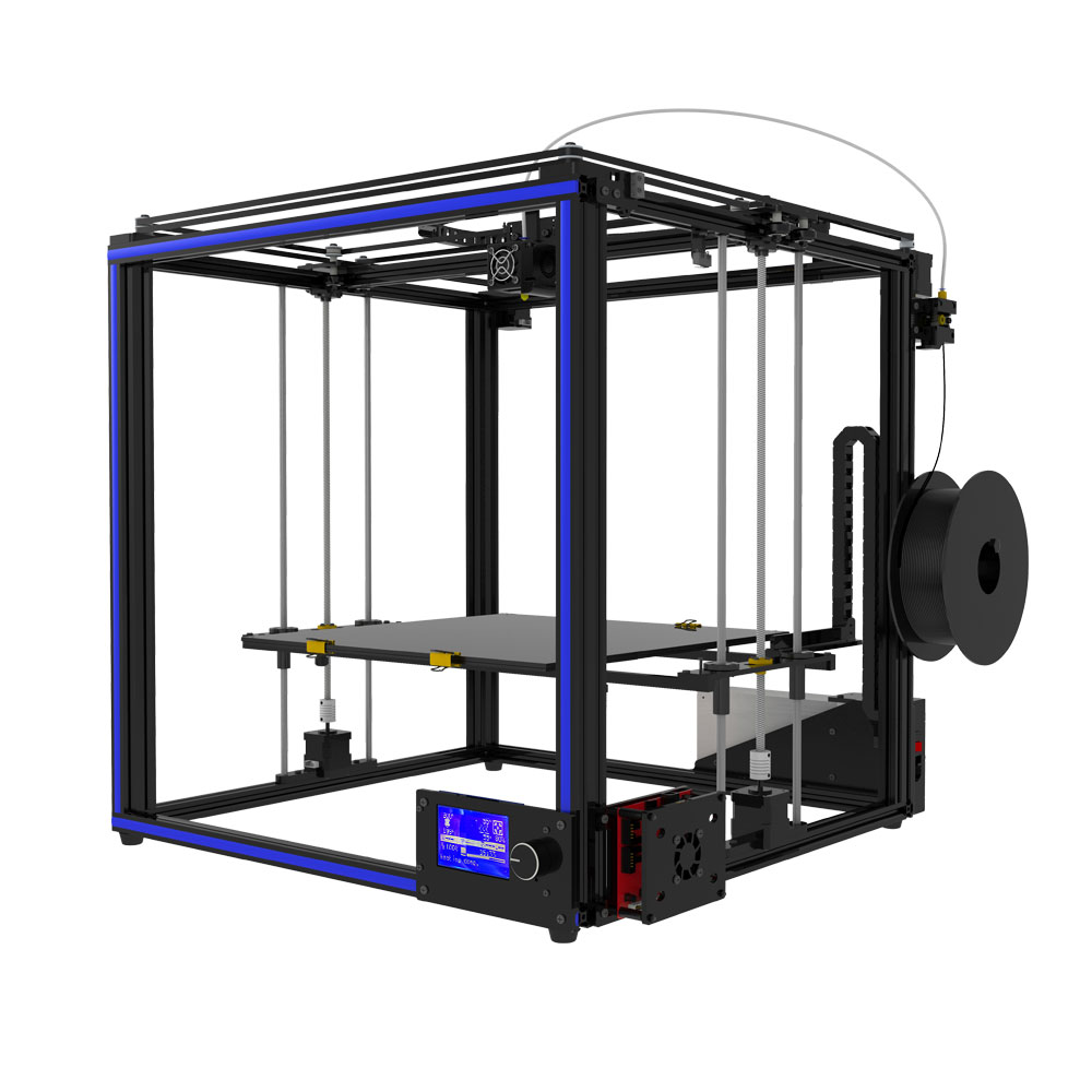 2018 TRONXY High precision Muiti-used 3D printer printing large size X5S-400 full printer kits upgarded aluminium cube 3d printer kits bapasco x5 full metal extrusion high precision 12864p lcd big printing size 210 210 280