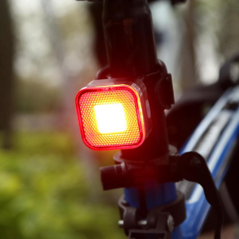 цена на Super Bright Rechargeable 12 COB LED USB Mountain Bike Tail Light Taillight MTB Safety Warning Bicycle Rear Light Bicycle Lamp