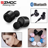 Twins True Wireless Bluetooth Earphone NiUB5 X1T Mini Invisible Cordless Bluetooth CSR 4 2 Earbuds Anti