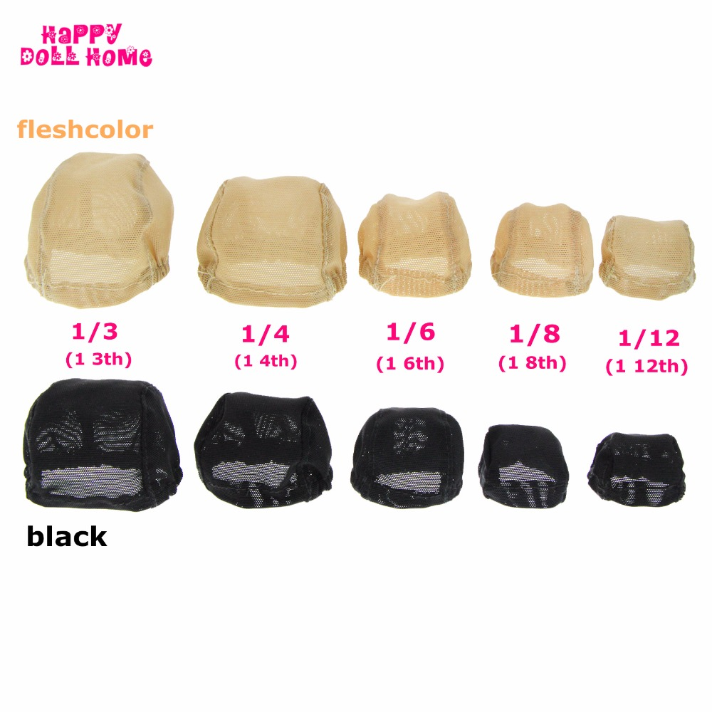 DIY Prop BJD Doll Wigs Headgear Wig Cap Doll Accessories Fixed Hairnet Hair Net For 1/3 1/4 1/6 BJD Toy For Barbie For Blythe fashion black hair extension fur wig 1 3 1 4 1 6 bjd wigs long wig for diy dollfie