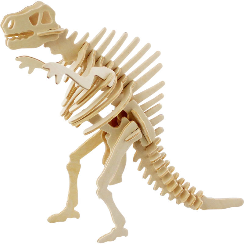 DIY 3D animales de madera esqueleto de dinosaurio Rompecabezas ...