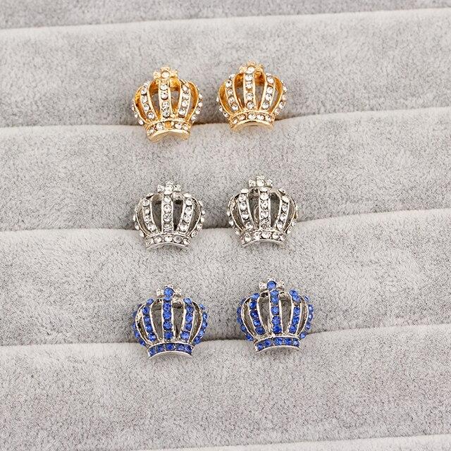 Купить запонки короны для мужчин и женщин классическая хрустальная