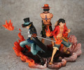 3 pçs/set DXF Anime One Piece Luffy Ace Sabo PVC Action Figure Collectible modelo Toy KT647
