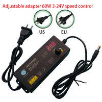 DC Adaptor 3V-24V Adjustable AC 100-240V Change Universal 24V Plug Power Adapter Supply for US EU Plug Charger