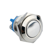 цена на W01 16mm Reset Push Button Switch Flat Round Head Momentary Screw Terminal Waterproof Switch Button