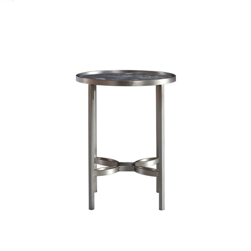 Современный минималистский Европейский хранения журнальный столик, журнальный столик из нержавеющей стали, Многофункциональный журнальн...