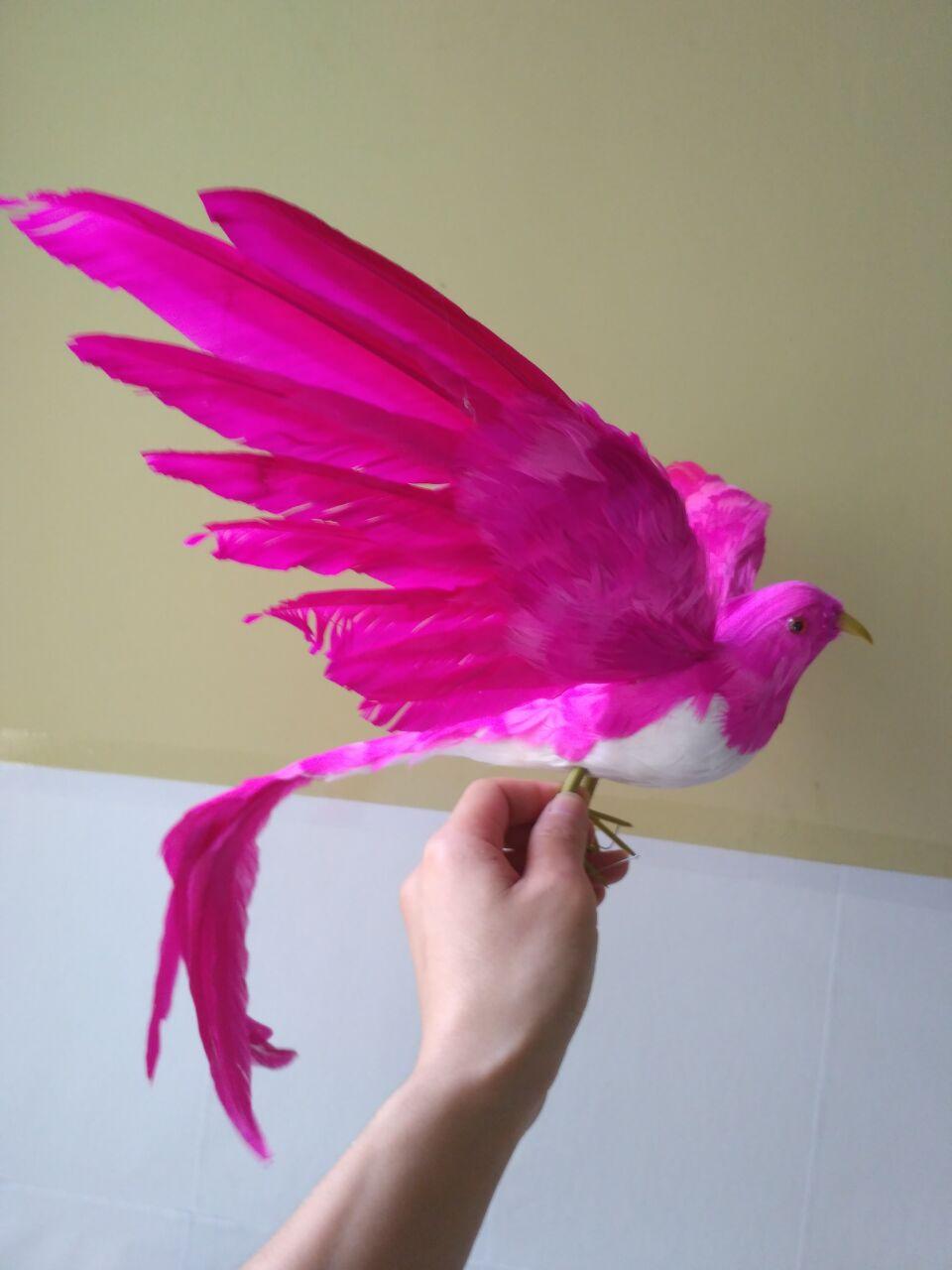 Details about  /4Pcs Decorative Colorful Artificial Feathered Birds Figurine Sculpture
