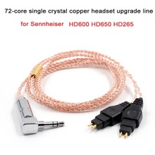 72 Cores Upgraded for Sennheiser Headphone HD650 HD600 HD265 Replacement Earphone Headset Audio DIY Cable