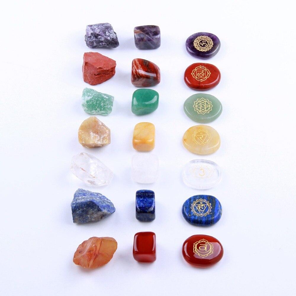 7 Chakra Stones Set Natürlichen Palmen Stein Fiel Kristalle Reiki Edelsteine Kristalle Therapie Kit 2018 Neue Ankunft
