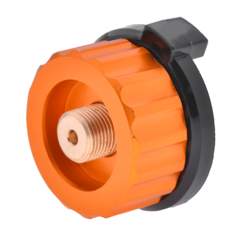 Outdoor Camping Hiking Equipment Aluminum Stove Conversion Split Gas Furnace Connector Cartridge Auto-off Tank Adapter