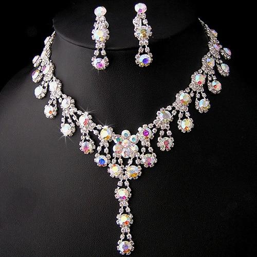 Austrian Crystal Plated Silver Imitation Diamond Body font b Jewelry b font Bijous Hot Sale Statement