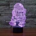 7 mudando a cor night light star war R2 robô 3D luz Robot Luz LED Interruptor de Toque Lâmpada de Mesa Luz da Mesa para as crianças IY803315