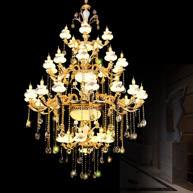 Luxury Crystal Chandelier Promotion High Quality K9 Lobby Chandeliers Led Lighting Fixtures