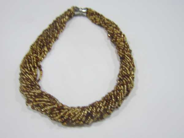 2017 new arrival Gold Brown Czech Glass seed beads Crystla wrap necklace for women