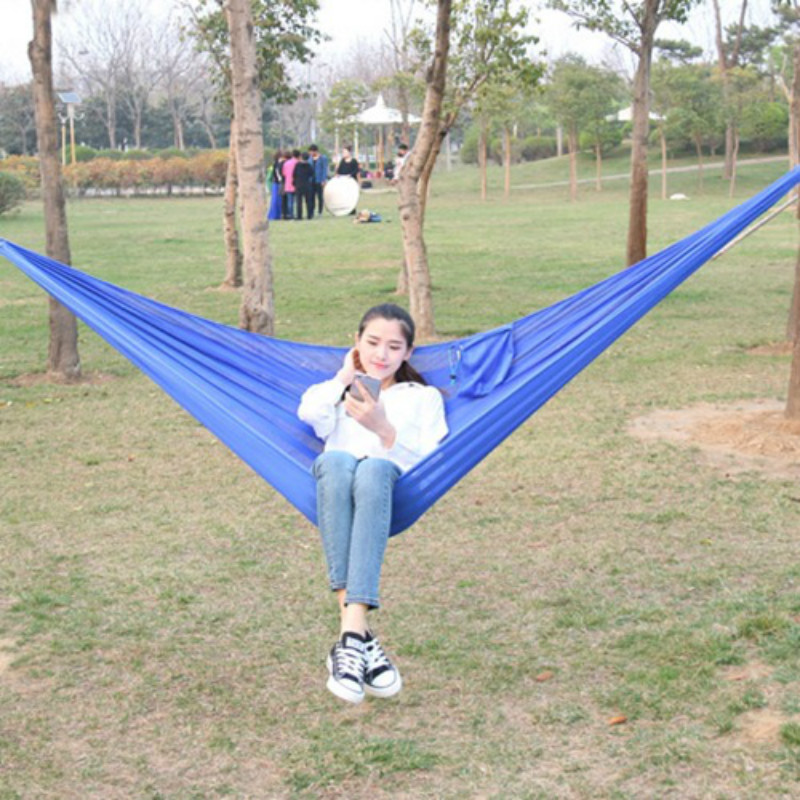 Two-person Outdoor Hammock Camping Ice Mesh Breathable Hanging Chair Summer Indoor Kids Swing 250x140cm Outdoor Furniture