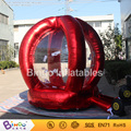 red promotional Inflatable cash grab cube box 2.2 meters high running money inflatable game with 2 blowers BG-A0936 toy