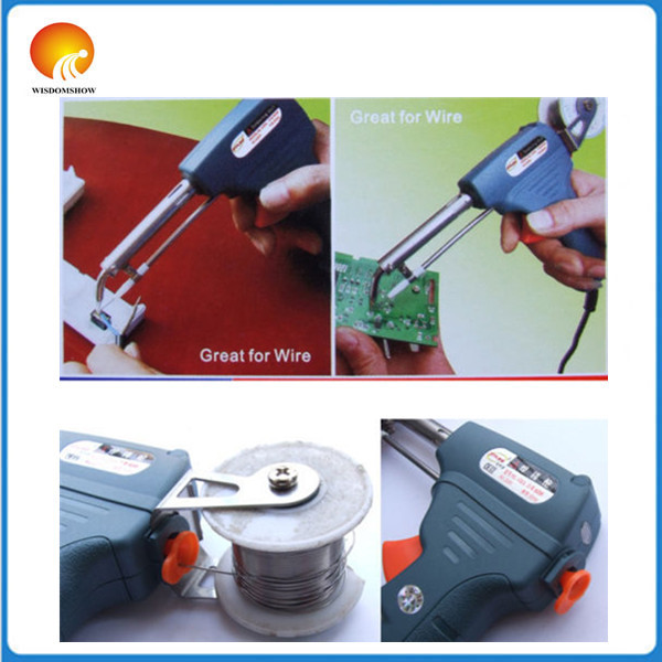 Free shipping Automatic Solder wire Welding Soldering Iron Gun 220V 60W With stand Hand-held  цены