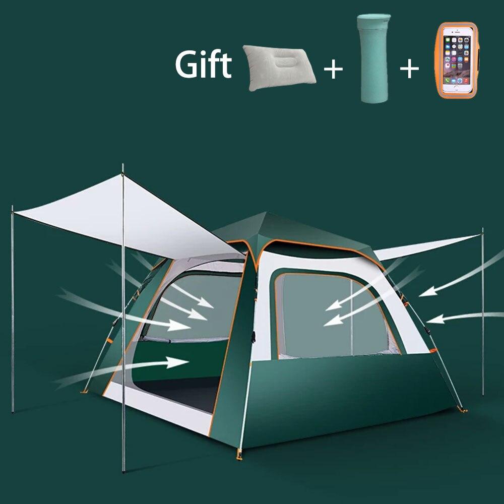 3-4 personnes gonflables extérieures ultra-légères de carpa sautent la tente tente automatique de plage camping anti pluie a ventilé les tentes imperméables de dôme