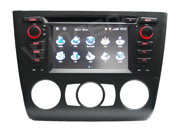 6.2 Car DVD GPS Player for BMW E81/82/87/88 with 3D Menu multi languages High Quality Free Shipping+Free Card with Map!!! - 2